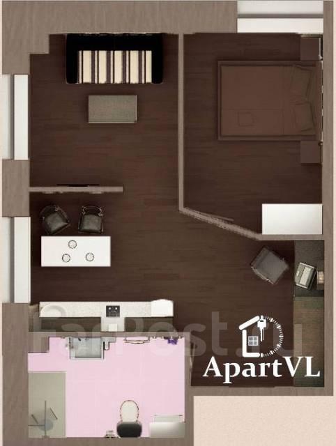 2-комнатная, улица Пограничная 4. Центр, 50 кв.м. План квартиры