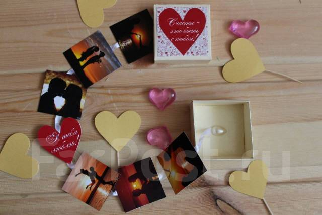 Коробочка с Вашими! мини-фотографиями, 14 и 23 февраля, 8 марта. Под заказ