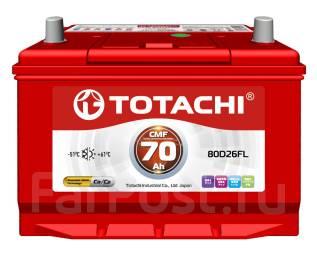 Totachi. 70 А.ч., Обратная (левое), производство Корея. Под заказ