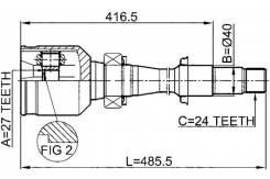 Шрус подвески. Toyota: Windom, Aurion, Harrier, Camry, Kluger V Lexus: ES330, ES300h, ES200, ES250, ES350, ES300 Двигатели: 1MZFE, 3MZFE, 2AZFXE, 2ARF...