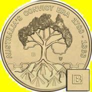 Австралия 1 доллар 2018 Australia's Convict Era. Mintmark 'B'