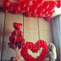 Воздушные шары на день Святого Валентина, 14 февраля!