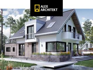 N 104 Современный дом. 100-200 кв. м., 2 этажа, 5 комнат, бетон