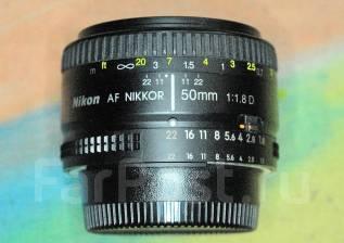 Продам объектив Nikon 50mm 1.8D. Для Nikon, диаметр фильтра 52 мм