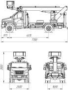 ГАЗ ГАЗон Next C41R13. Автогидроподъемник ПСС-131.22Э на шасси ГАЗ-C41R3, 4 430куб. см., 22м.