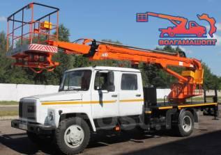 ГАЗ 3309. АГП телескопический ВС-18Т на шасси двухрядная кабина, 4 430куб. см., 18м.