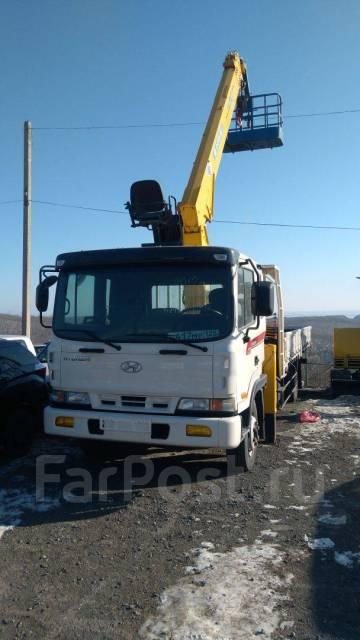 Hyundai HD120. Hyundai HD 120-грузовой бортовой с манипулятором 7.0 тонн + корзина, 6 500кг., 4x2