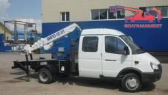 ГАЗ ГАЗель Фермер. Автовышка ВИПО-12 на шасси ГАЗ-33023 Газель Фермер 4х4, 2 700 куб. см., 12 м.