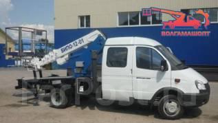 ГАЗ ГАЗель Фермер. Автовышка ВИПО-12 на шасси ГАЗ-33023 Газель Фермер 4х4, 2 700куб. см., 12,00м.