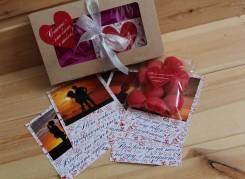 7 карточек с Вашими фото+мармелад, 14 и 23 февраля, 8 марта. Под заказ