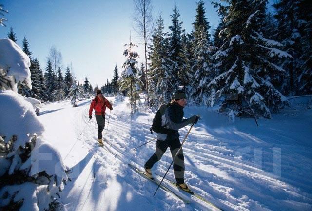 """Прогулка на беговых лыжах.! Новый маршрут ! - маршрут """"Одинокого озера"""