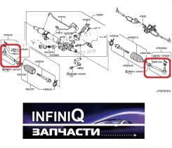 Наконечник рулевой. Infiniti QX56, Z62 Infiniti QX80, Z62 Nissan Patrol, Y62 Двигатель VK56VD