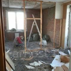 Демонтаж, демонтировать, сломать, выбить, стены, кабину, перегородки, полы