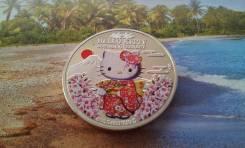 Копия! Острова Кука. 2016 г. Hello Kitty! Огромная красивая монета!