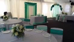 Украшение свадебного банкета, украшение шатра, свадебный декор, флорис