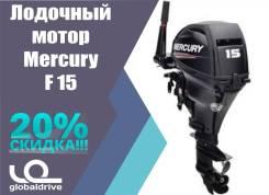 Mercury. 15,00л.с., 4-тактный, бензиновый, нога S (381 мм), Год: 2017 год