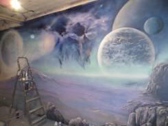 Роспись стен, граффити, декор, патина