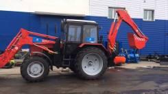 МТЗ 92П. Экскаватор-бульдозер погрузчик ЭБП 9 на базе трактора МТЗ-92П, 4 700 куб. см., 0,55куб. м.