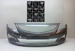 Бампер передний Хендай солярис рестайлинг 2014