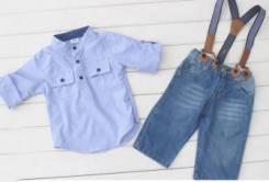 Рубашки джинсовые. Рост: 92-98, 98-104, 104-110 см