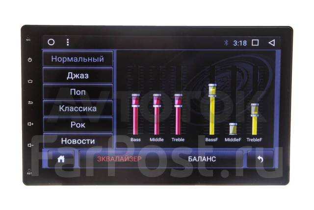 Универсальная 2DIN (178х100) магнитола Android 7.1.1 CF-3038