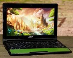 Acer Aspire One. 10.1дюймов (26см), 1,0ГГц, ОЗУ 2048 Мб, диск 320 Гб, WiFi, аккумулятор на 3 ч.