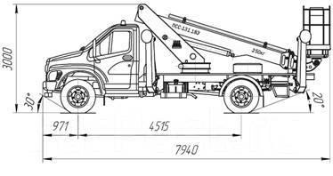КамАЗ ПСС-131.18Э. ПСС-131.18Э на шасси ГАЗон Next (1 рядная кабина), 4 430куб. см., 18м.