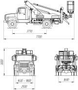 КамАЗ ПСС-131.18Э. ПСС-131.18Э на шасси ГАЗ-3309 (1 рядная кабина), 4 430куб. см., 18м. Под заказ