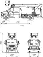 КамАЗ ПСС-131.22Э. ПСС-131.22Э на шасси ГАЗон Next (1-2 рядная кабина), 4 430куб. см., 22м. Под заказ