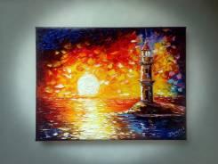 "Картина ""Токаревский маяк"". Холст, масло. Нестеров."