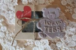 """Мыло-валентинка """"Медведь """"Я тебя люблю"""", 14 и 23 февраля, 8 марта"""