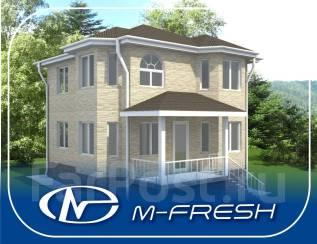 M-fresh Vlad style-зеркальный (Проект дома с деревянной лестницей). 100-200 кв. м., 2 этажа, 5 комнат, дерево