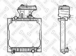 Радиатор системы охлаждения !с рамкой алюминий/пластик 845x940x42 MAN TGA 00- 81-03355-SX_ Stellox 8103355SX