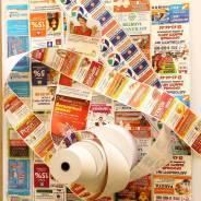 Яркая реклама на кассовой ленте - масштабный и эффективный инструмент