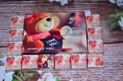 Шоколадный подарок на 14 и 23 февраля шокобокс открытка пожелание