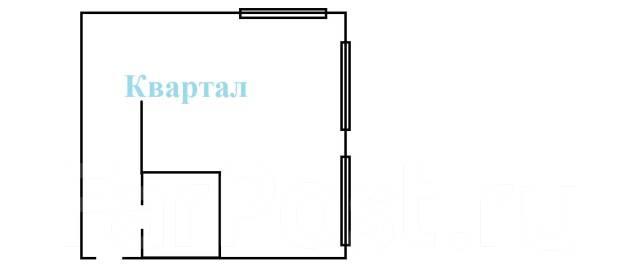 1-комнатная, улица Калинина 33. Чуркин, агентство, 36кв.м. План квартиры