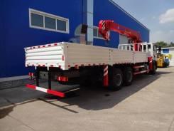 Howo Sinotruk. Бортовой грузовик HOWO T5G с КМУ XCMG SQS200III, 6 870 куб. см., 10 т и больше. Под заказ