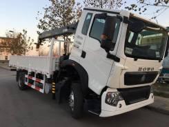 Howo Sinotruk. Бортовой грузовик Howo T5G 4х2 с КМУ XCMG SQS175-6, 6 870 куб. см., 5-10 т. Под заказ
