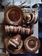Кофейный сервиз глиняный. Оригинал