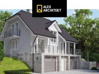 R 106 Дом на склоне. 100-200 кв. м., 2 этажа, 5 комнат, бетон
