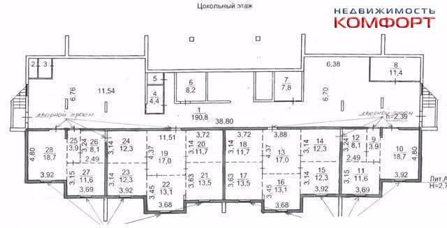 Продается нежилое Помещение 245 кв. м., 2 входа, на Патрокле. Улица Басаргина 20а, р-н Патрокл, 245кв.м. План помещения