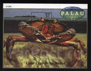Палау 2000 чистая, морская фауна, краб