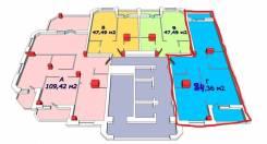 2-комнатная, улица Державина 21/2. Центр, частное лицо, 84кв.м. План квартиры