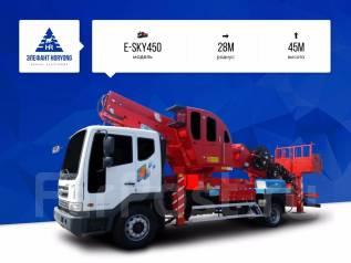 Horyong Sky. Автовышка Elephant-Horyong E-SKY450 на шасси Daewoo, 6 000 куб. см., 45 м.