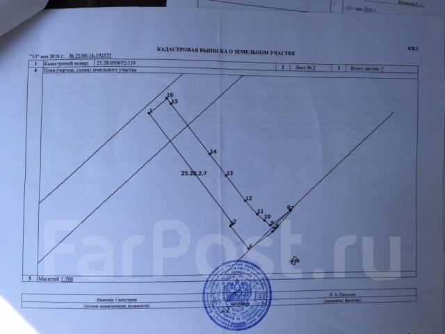 Продаётся дача на 27 км (Лесная Заимка) во Владивостоке. От агентства недвижимости (посредник). Схема участка