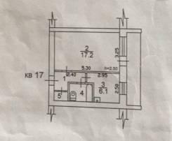 1-комнатная, улица Марии Цукановой 12. Центр, частное лицо, 29 кв.м. План квартиры
