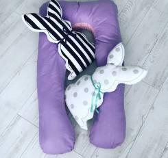 Подушка для беременных, большой размер. двухсторонняя. Babysryblevki. 38, 40, 42, 44, 40-44, 40-48