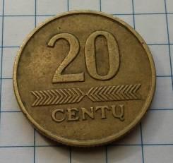20 центов 1997 года. Литва. В наличии!