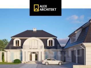 Проект дома R 108 z Роскошный дом. 200-300 кв. м., 2 этажа, 5 комнат, бетон