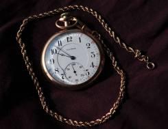 Карманные часы Illinois с цепочкой . Прикоснись к истории!. Оригинал